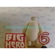 Adorno Para Torta Big Hero Porcelana Fria C/ Cartel Y Numero