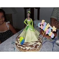 Adorno De Torta De Cumpleaños Princesa Tiana