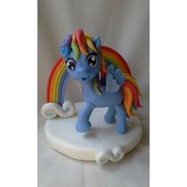 Mi Pequeño Pony Rainbow Dash Adorno Para Torta
