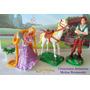 Rapunzel +camaleon + Flynn + Caballo Enredados, Disney