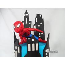 Spiderman. Hombre Araña. Adorno Torta. Porcelana Fria