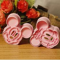 Cortante Mickey Minnie 4 Piezas Repostería Cookies Porcelana