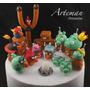 Angry Birds Space Combo En Porcelana Fria Adorno Torta