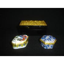 Lote Tres Pastilleros Porcelana Bronce (1086)f