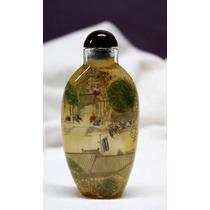 Botella Miniatura Japonesa Pintada A Mano Por Dentro