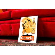 Cuadro Poster Antiguo Bebidas. Gancia Retro. Decoración Bar