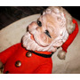 Antiguo Muñeco Papa Noel 45cmts-cab Goma-navidad-arbolito