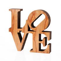 Figura Decorativa Love Carton Prensado Y Madera Living Morph