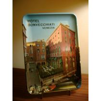Bandeja Hotel Bonvecchiati Venezia Año 1980 Impecable !!!
