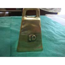 Cencerro De Bronce Rectangular N° 10