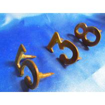 El Arcon Numeros De Bronce Para Casa O Calle 5-3-8 6515