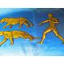 El Arcon Antiguas Piezas De Bronce Domador C/ Leopardo 13073