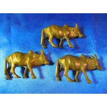 El Arcon Trio De Animales De Bronce Cebu 6cm 17069