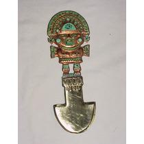 Tumi Peruano Repica De Los Cuchillos De Sacrificios Incas