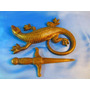 El Arcon Abrecartas Y Figura De Bronce De Iguana 44069