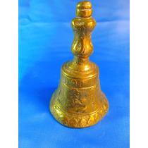 El Arcon Campana Llamador De Bronce Labrada 11cm 42067