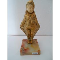 Antigua Figura Payaso De Bronce.firma G Omerth. Imperdible!!