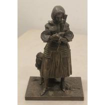 Espectacular Juana De Arco En Bronce Figura De 22 Cm. Alto