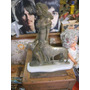 Estatua Figura Antigua De Bronce Con Pie De Marmol