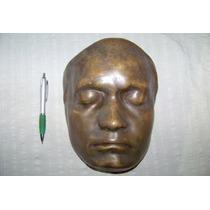Antigua Mascara Grande De Bronce Art Deco