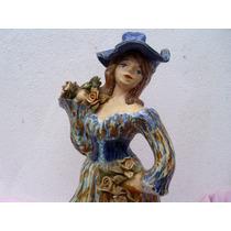 Preciosa Figura Jarra Dama Victroriana