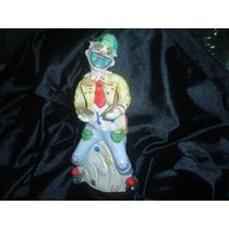 Payaso Clown Ceramica Esmaltada Figura Circo Imagen