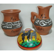 Jarrita + Maceta + Instrumento En Ceramica De Merlo San Luis