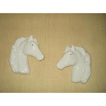 2 Hermosas Cabezas De Caballos De Ceramica