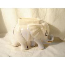 Antiguo Elefante Blanco - Maceta - Florero -