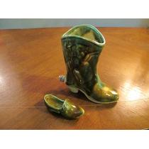 Bota Y Zapato De Cerámica Esmaltada