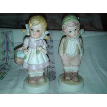 Figura De Pareja De Niños En Ceramica