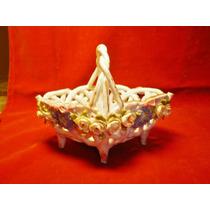 Antigua Canastita De Ceramica