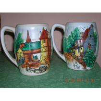 Antiguos Chop De Ceramica Alemana Años