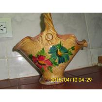 Antigua Y Decorativa Jardinera De Terracota Vintage Pintada