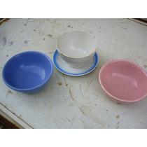 Antigua Taza Para Sopa Con Plato Y Dos Tazones Mas