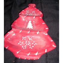 Antiguo Adorno De Ceramica Arbol De Navidad Retro