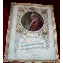 Antigua Bendicion De Pio Xii De 1939