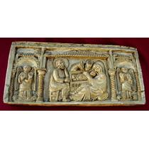 Placa De Sagrada Famila En Ceramica Y Dorada