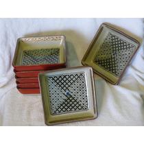 Platos De Ceramica Decorados -siete(7)- Importados
