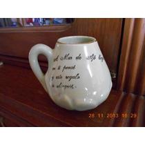 Antiguo Mate De Ceramica Con Refran Recuerdo Mar De Ajo