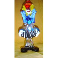 Destacado Figura Payaso Murano Bandoneon Musico (0569)