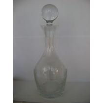 Botellon De Cristal Con Tapa !!! Krosno !!! Poland