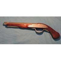 Pistolon Antiguo De Madera Y Metal Decorativo 46 Cms Largo