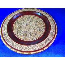 El Arcon Antiguo Plato Decorado De Madera Para Colgar 12059