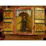 Antiguo Retablo Con Santo Criollo Madera Arte Sacro Popular