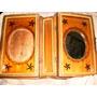Antigua Caja Libro Mader-no Biblia -rara-libro-espejo-navida