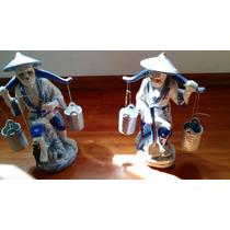 Estatuillas Chinos Pescadores