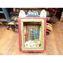 Retablo Imagen Religiosa Popular San Francisco Chapa Madera