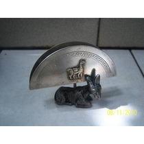 Porta Servilleta En Metal Plateado Industria Argentina