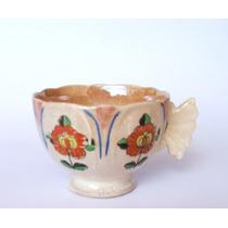 Antigua Taza De Té Pintada A Mano Origen Oriental